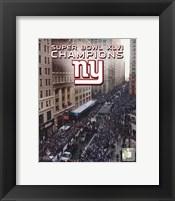 Framed New York Giants Super Bowl XLVI Champions Parade