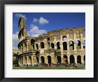 Low angle view of a coliseum, Colosseum, Rome, Italy Framed Print