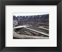 Framed Colosseum in Rome side view