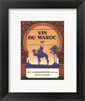 Framed Morocco's Wine Label