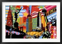 Framed New York Taxi I
