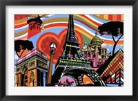 Framed Paris l'amour