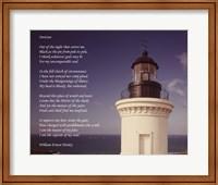 Framed Invictus Poem (lighthouse)