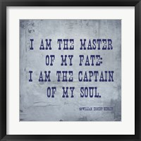 Framed I Am The Master Of My Fate: I Am The Captain Of My Soul, Invictus