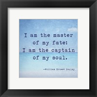 Framed Invictus Quote
