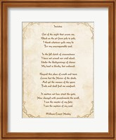 Framed Invictus Poem