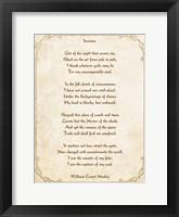 Framed Invictus Poem
