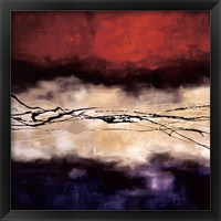 Framed Harmony In Red And Violet