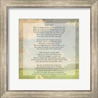 Framed Don't Quit Poem (field)