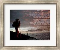 Framed Don't Quit - hiker