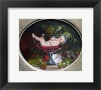 Framed Cupid in a Wine Glass