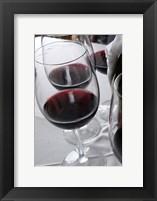 Framed Glasses of Red Wine