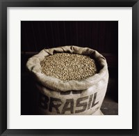 Framed Coffee Beans in a Burlap Sack