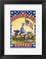 Framed Uncle Sam's Coffee