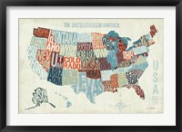 Framed USA Modern Blue