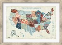 Framed USA Modern Blue