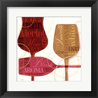 Framed Colorful Wine I