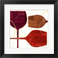 Colorful Wine II Framed Print