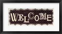 Room Signs IV Welcome Framed Print