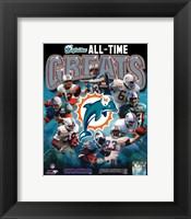 Framed Miami Dolphins All Time Greats Composite