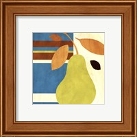 Framed Merry Pear I (Blue)