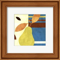 Framed Merry Pear II (Blue)