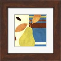 Framed Merry Pear II (Blue)