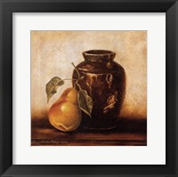 Framed Crock with Pears