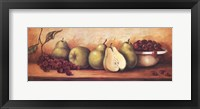 Framed Fruit Panel with Green Pears