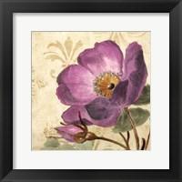 Framed Pourpre Fleur I
