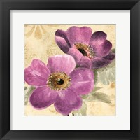 Framed Pourpre Fleur II