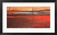 Framed Red Horizon I