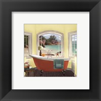 Framed Oceanview II Yellow