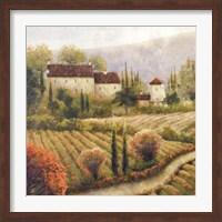 Framed Tuscany Vineyard I