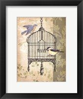Framed Botanical Birdcage II