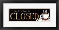 Framed Kitchen Closed - mini