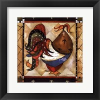 Framed Tuscan Rooster Sq I