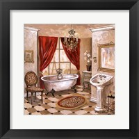 Framed Leopard Parisian Bath
