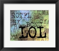 Text Logic I Framed Print