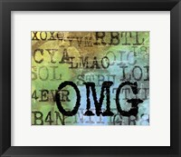Text Logic II Framed Print