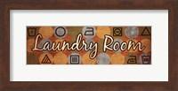 Framed Laundry Symbols Panel I - mini