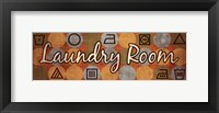 Framed Laundry Symbols Panel I - mini