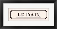 Framed Le Bain - mini