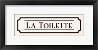 Framed La Toilette - mini