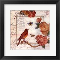 Framed Jardin Des Papillons I