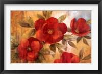 Framed Jardin Rouge I