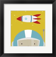 Framed Peek-A-Boo Astronaut
