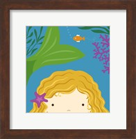 Framed Peek-A-Boo Mermaid