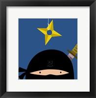 Peek-A-Boo Ninja Framed Print