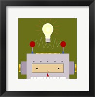 Peek-A-Boo Robot Framed Print